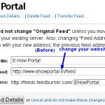 Feedburner setting before-for older blog
