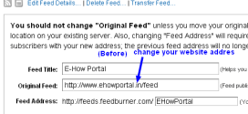 Change Feedburner Address Without Loosing Feed Subscribers