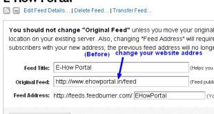 Feedburner setting before-for older blog