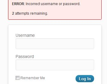 Limit Login Attempts WordPress Plugin