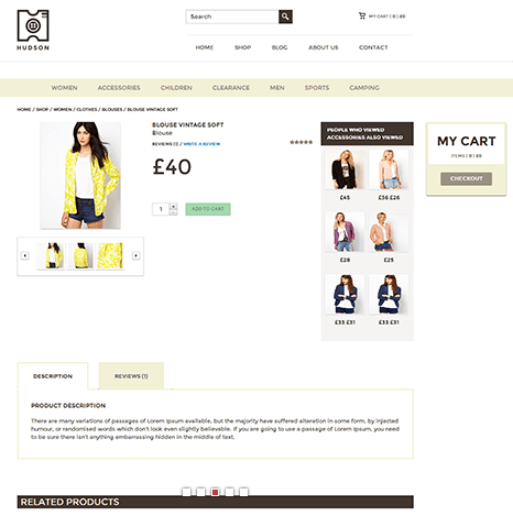 Hudson – eCommerce WordPress Theme