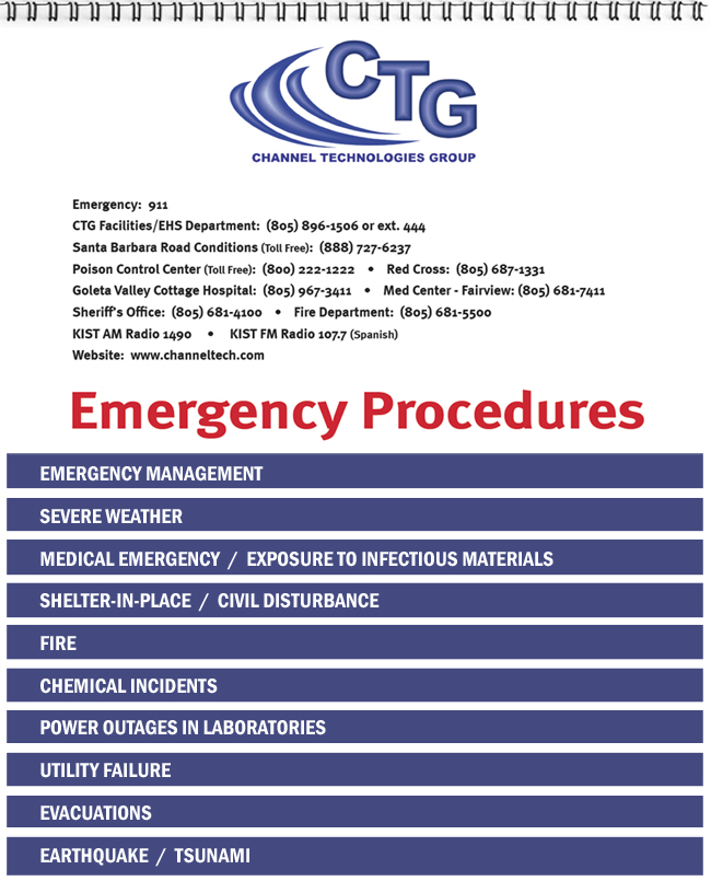 Emergency Procedures Flip Charts send your content; we do the rest! - safety manual template