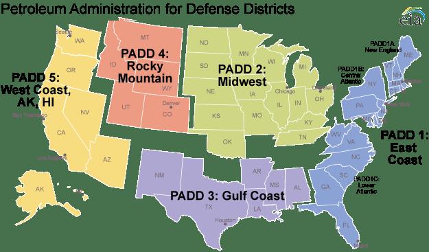 Padd Regions Enable Regional Analysis Of Petroleum Product