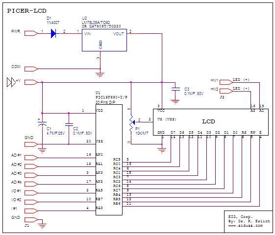 Electronic Kits Pic LCD