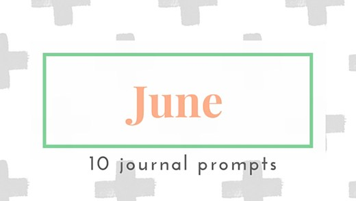 June 2016 Journal Prompts. New prompts released the beginning of each month >> Eight Pepperberries
