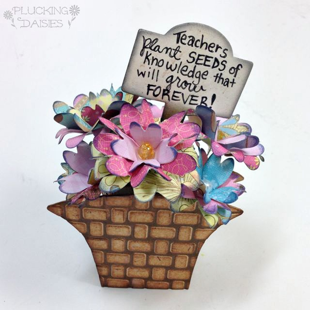 Art with Heart Challenge {May Flowers} Paper Flower Basket by Amy Bowerman| Eileenhull.com