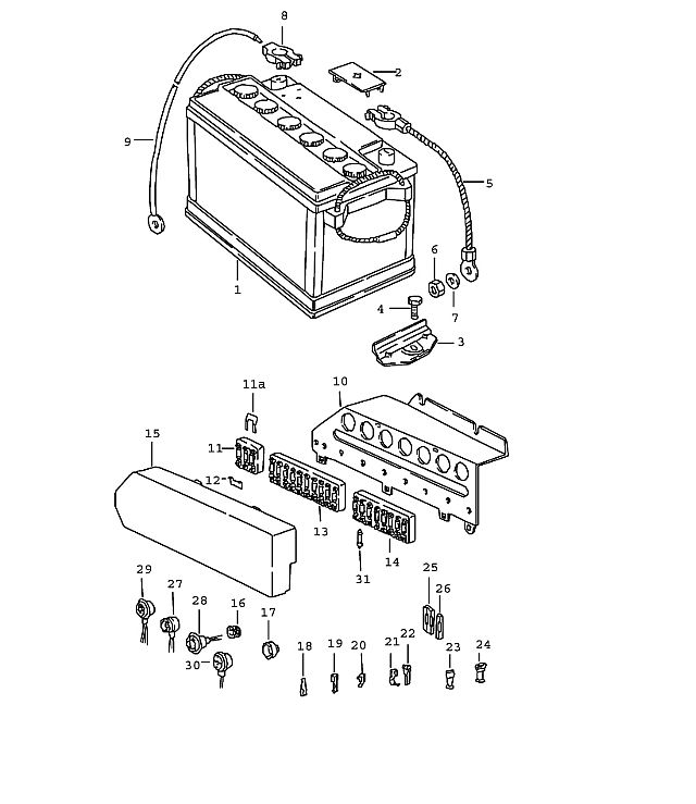 porsche 914 fuse box cover