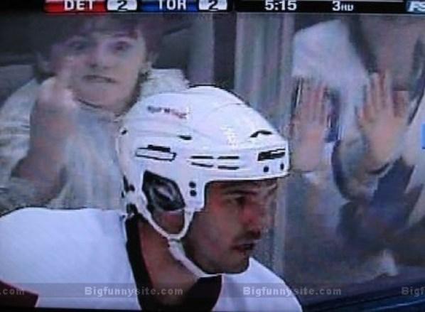 verrückte Eishockey Fans