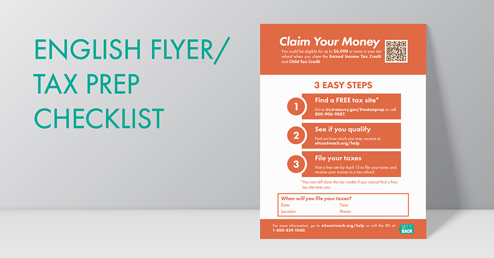 Flyers \u2013 Get It Back Tax Credits for People Who Work