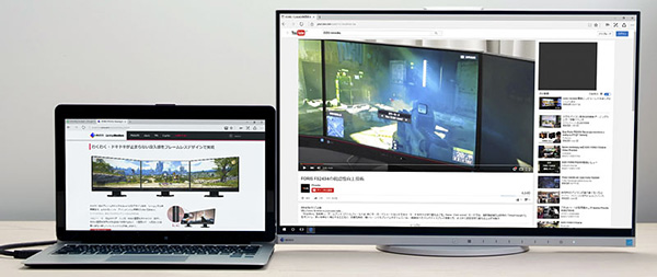Using the convenient \ - multi screen display