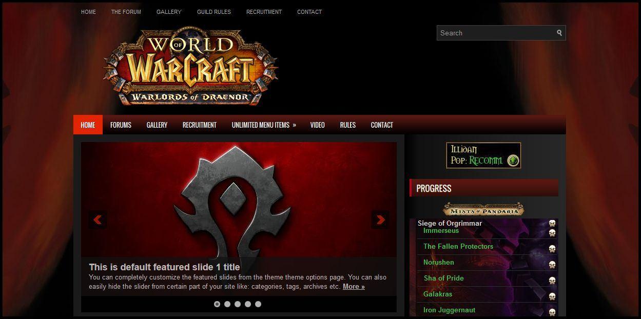 master officer or guild webmaster of a dominating horde guild
