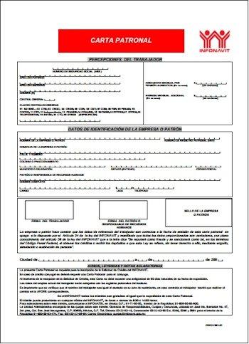 Ejemplo de Carta de crédito de infonavit