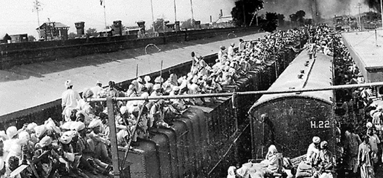 What were the circumstances that led to the partition of India in
