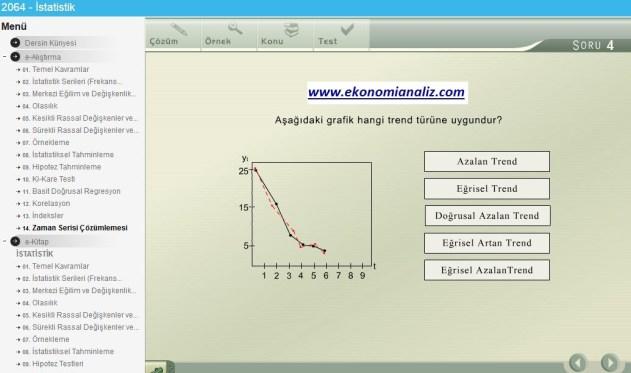 istatistik uygulama soruları ekonomi analiz