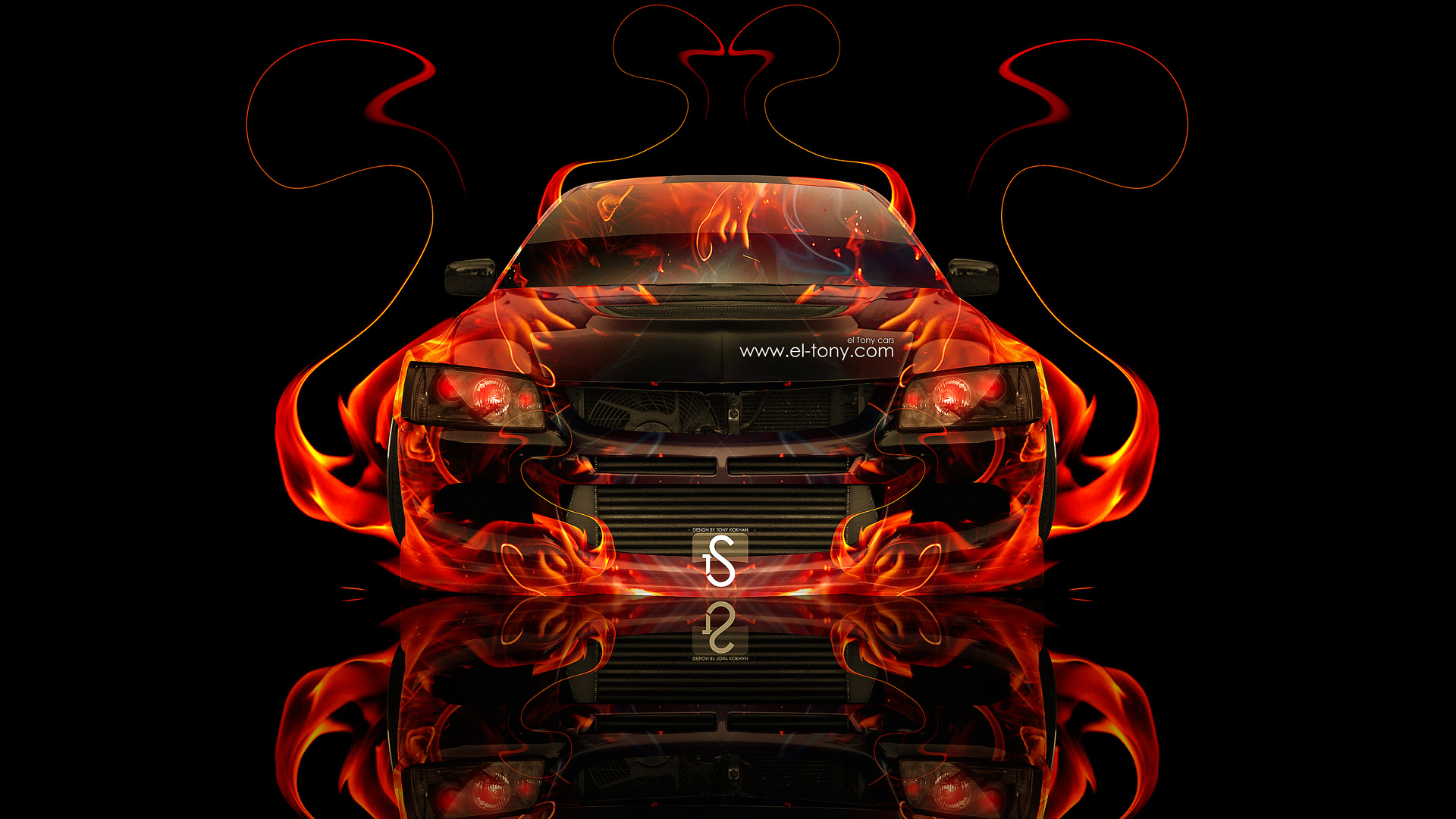 Apple Iphone 2g Wallpapers Mitsubishi Lancer Evolution 8 Jdm Fire Abstract Car 2013