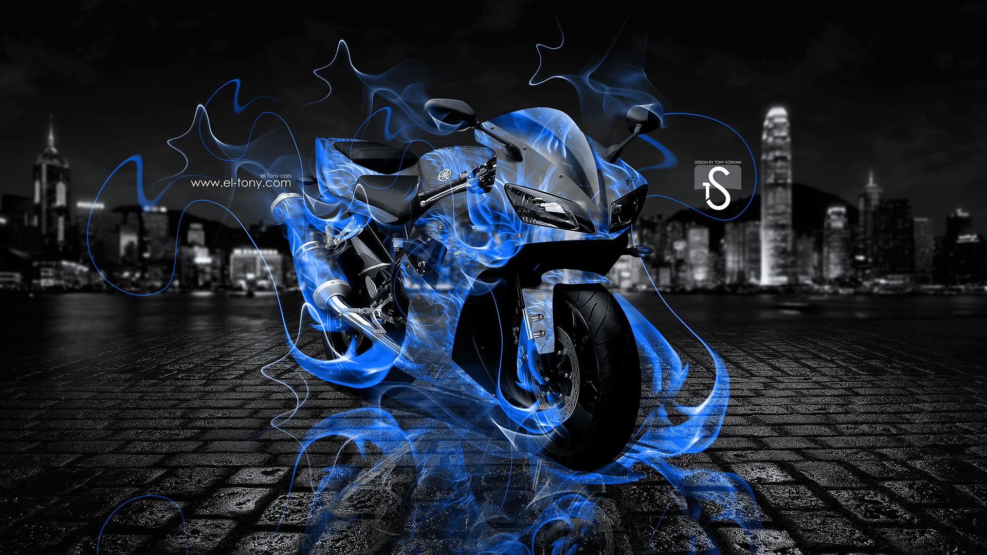 Sugar Skull Wallpaper Hd Yamaha R1 Moto Fire City 2013 El Tony