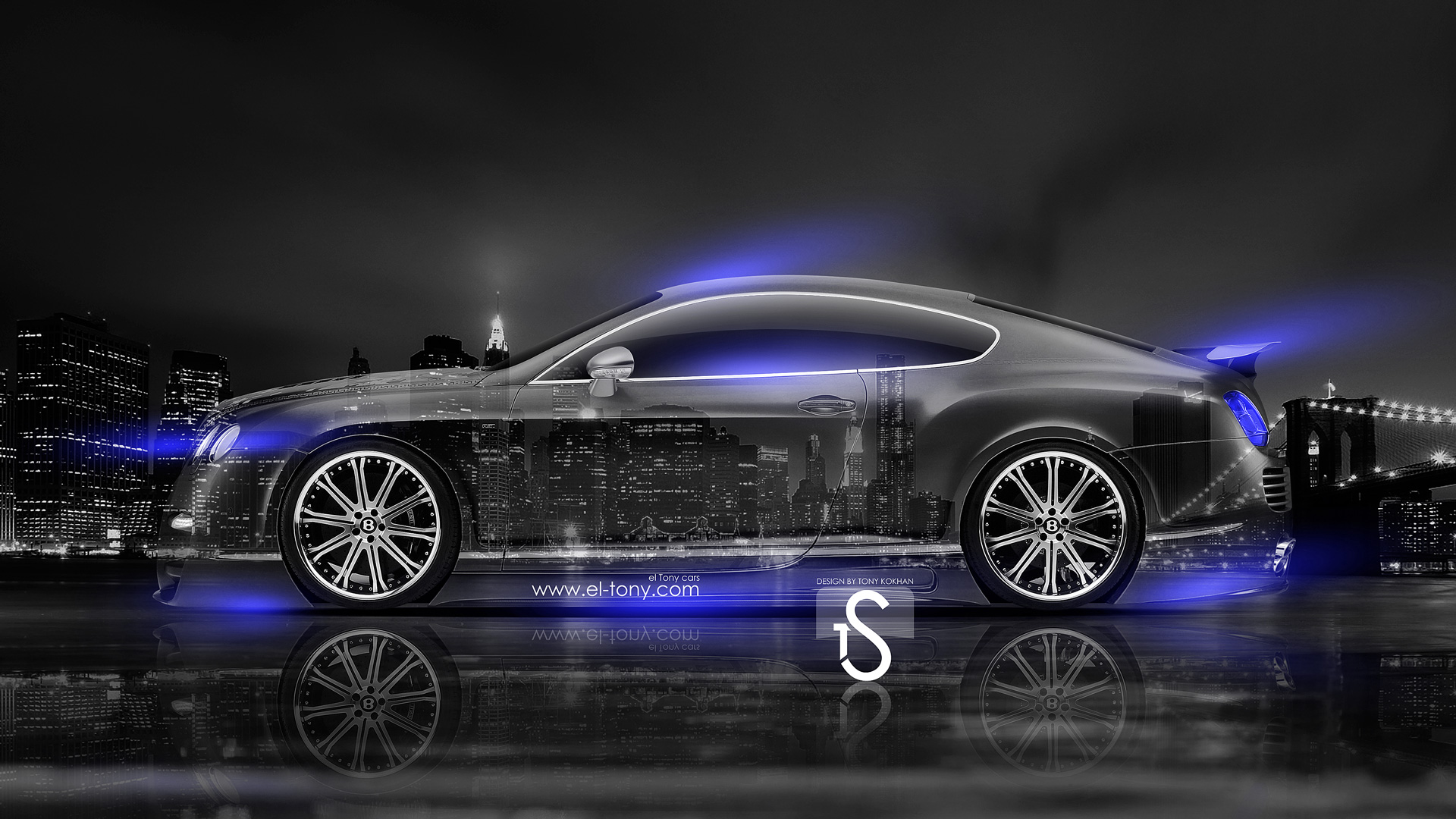 3d Smoke Wallpaper Bentley Continental Gt Crystal City Car 2014 El Tony