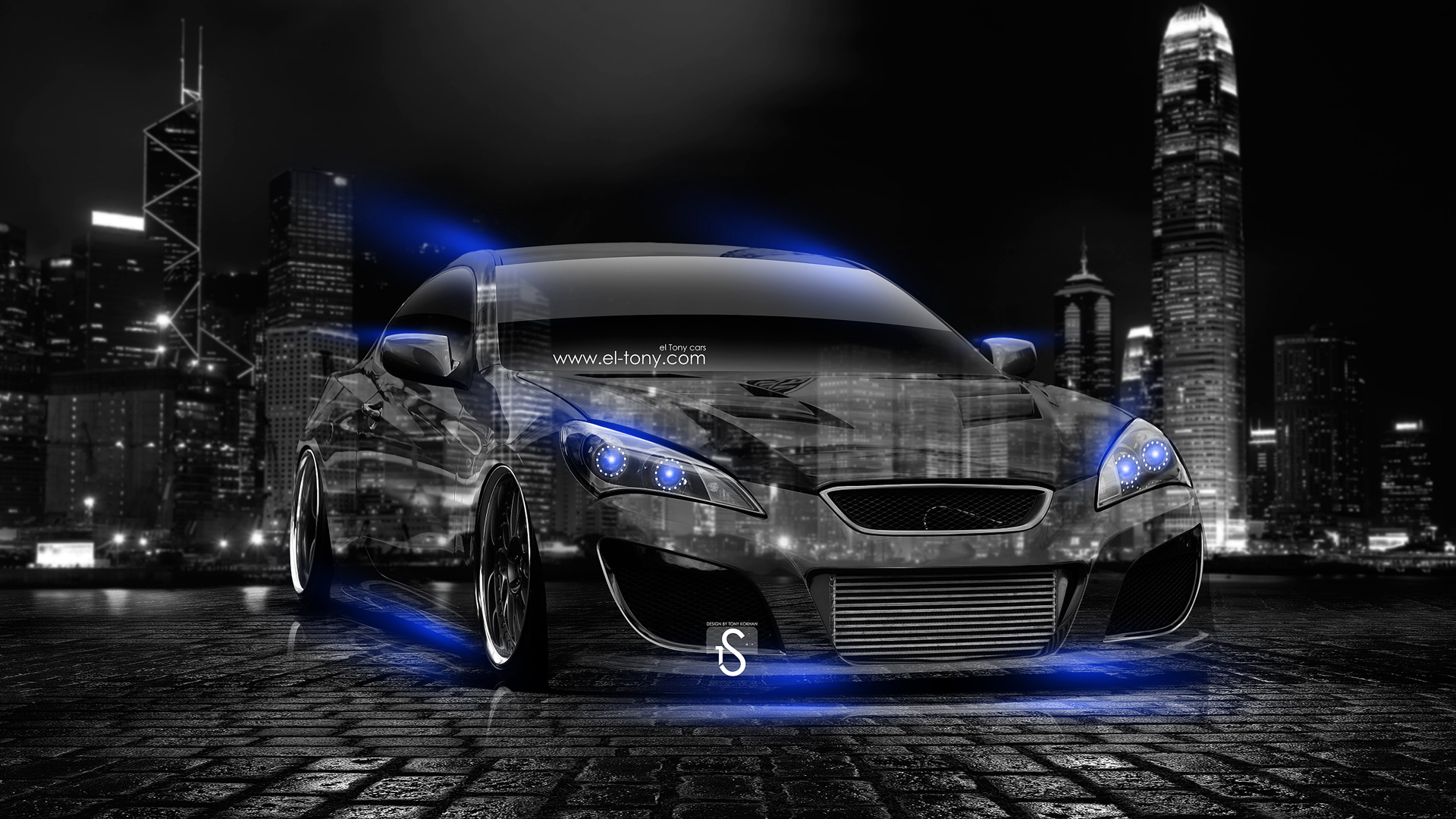 Jdm Car Wallpaper 1920x1080 Hyundai Genesis Coupe Tuning Crystal City Car 2014 El Tony