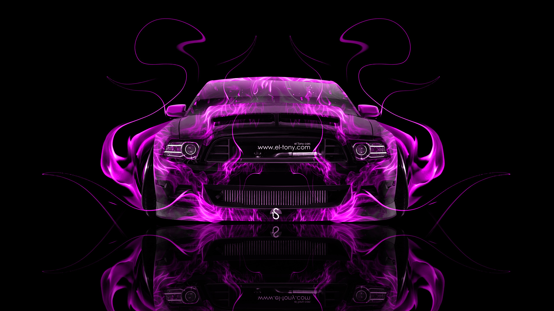 Dodge Muscle Car Wallpapers Ford Mustang Gt Muscle Fire Abstract Car 2014 El Tony
