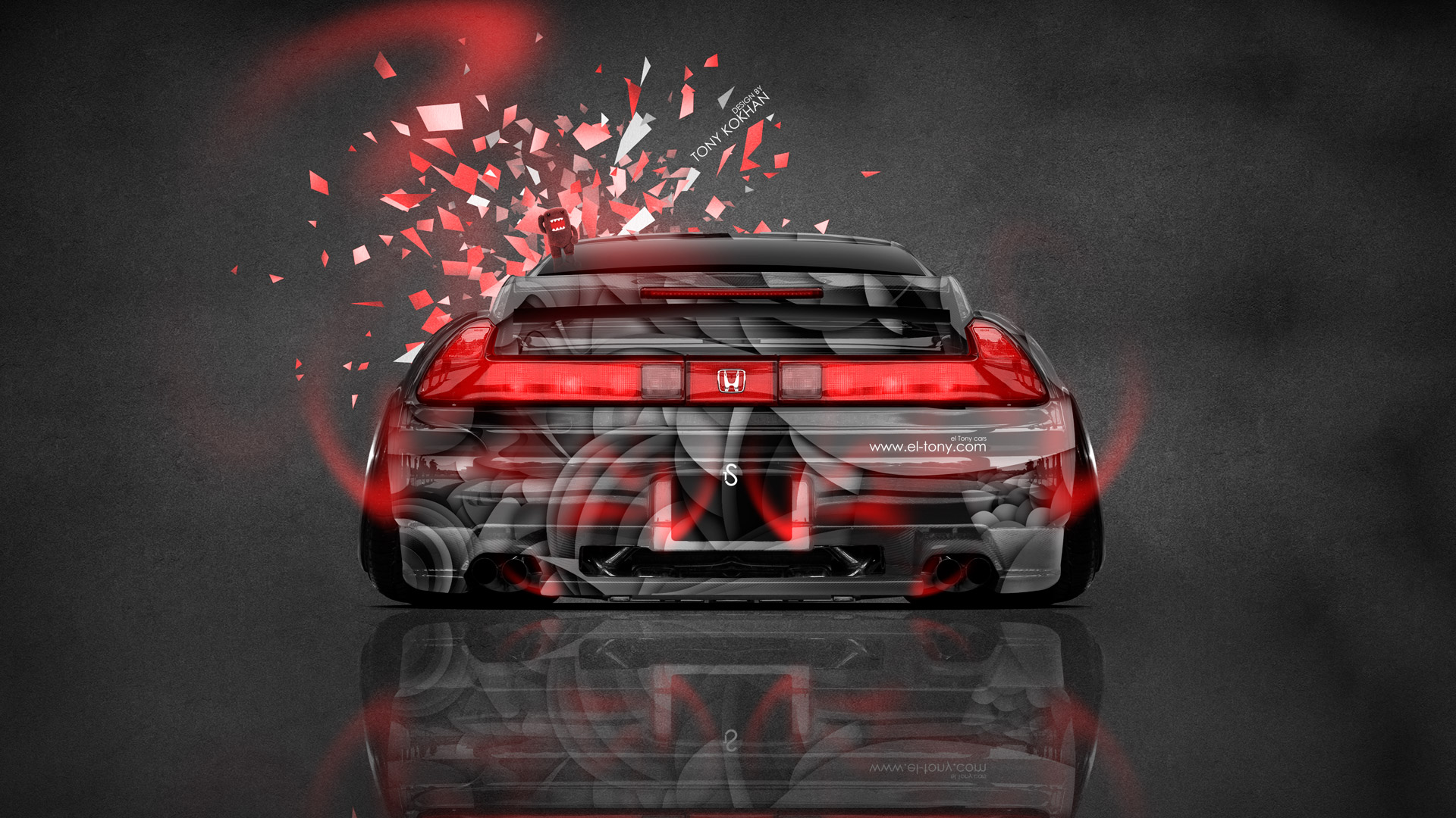 Fire And Water Hd Wallpapers Honda Nsx Back Jdm Style Domo Kun Toy Car 2014 El Tony