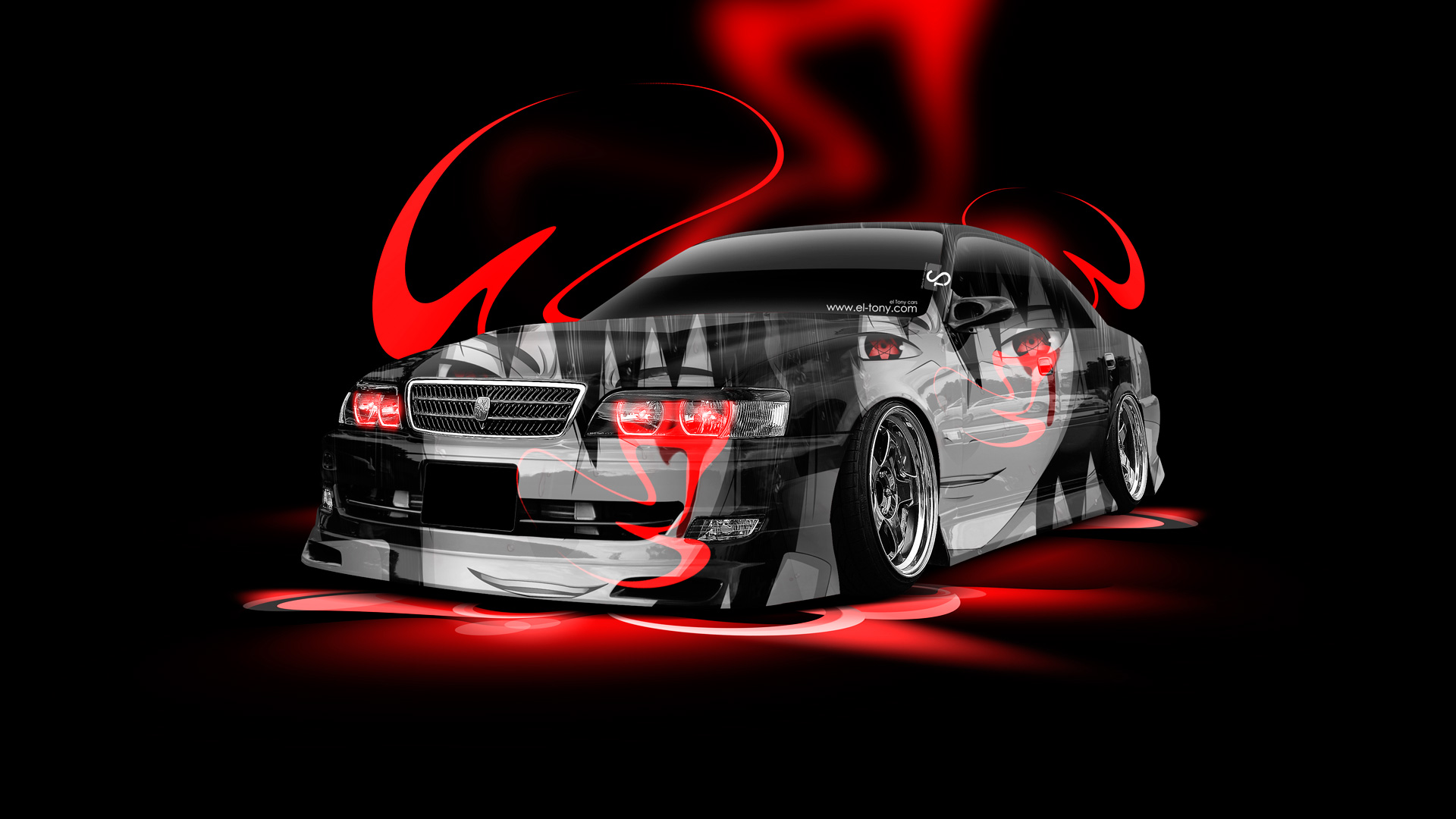 Monster Energy Cars Hd Wallpapers Toyota Chaser Jzx100 Anime Aerography Car 2014 El Tony