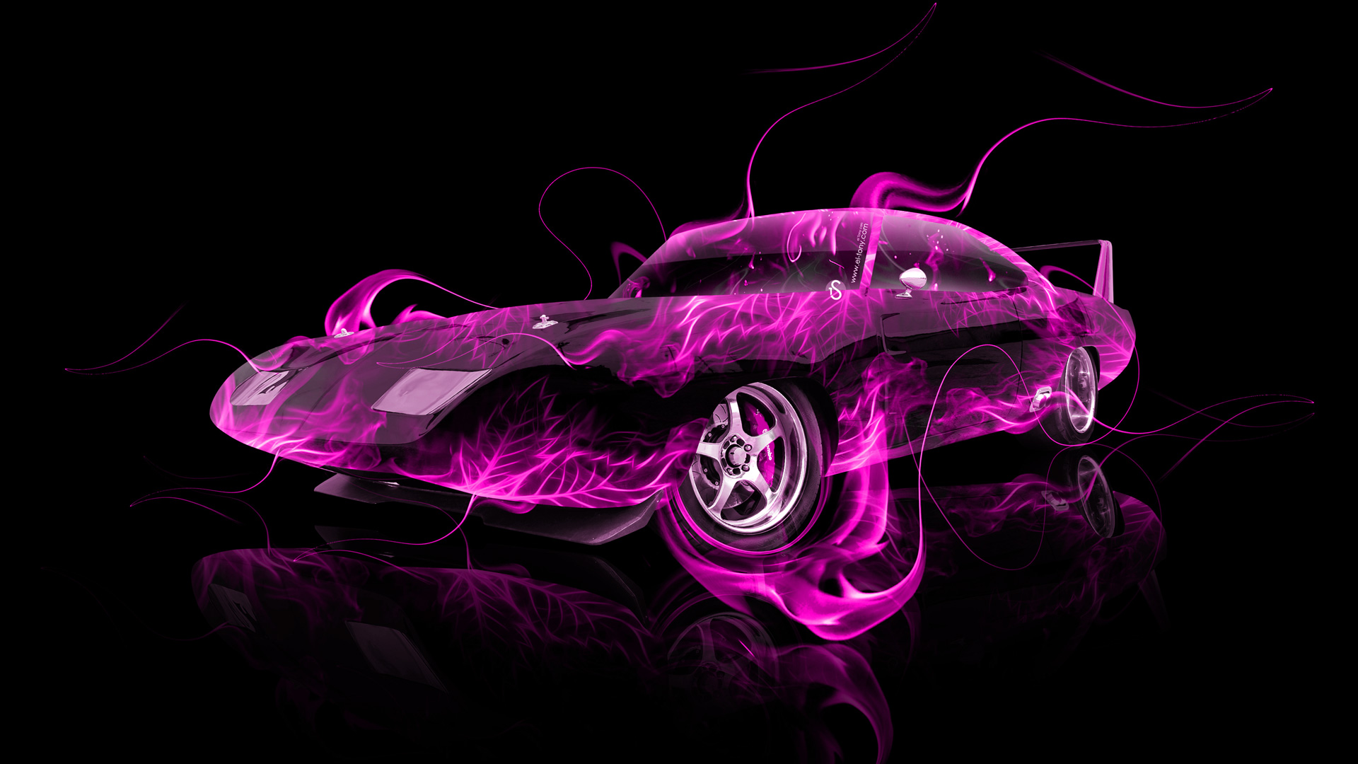 Hd Classic Muscle Car Wallpapers Dodge Charger Daytona Muscle Fire Abstract Car 2014 El Tony