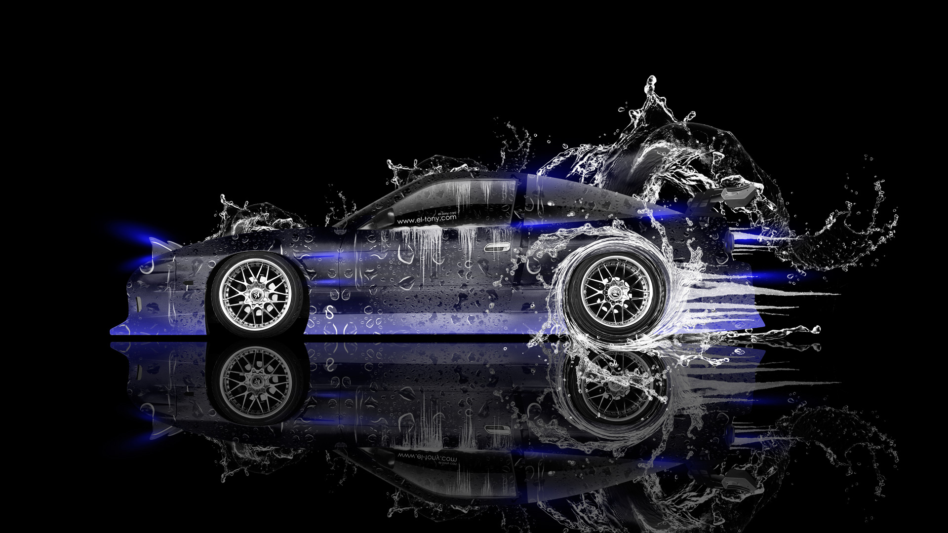 Corvette Girl Wallpaper Nissan 180sx Jdm Side Drift Water Car 2014 El Tony