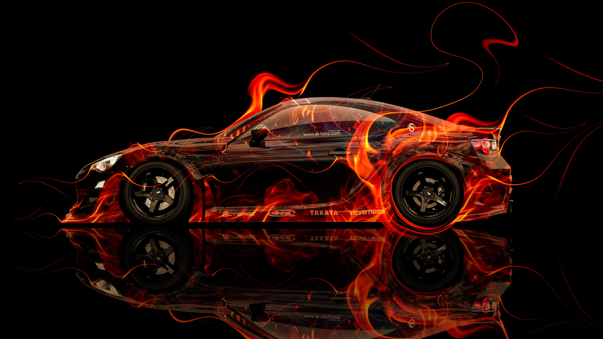 Desktop Machine Cars Lamborghini Wallpapers Toyota Gt86 Tuning Side Fire Abstract Car 2014 El Tony