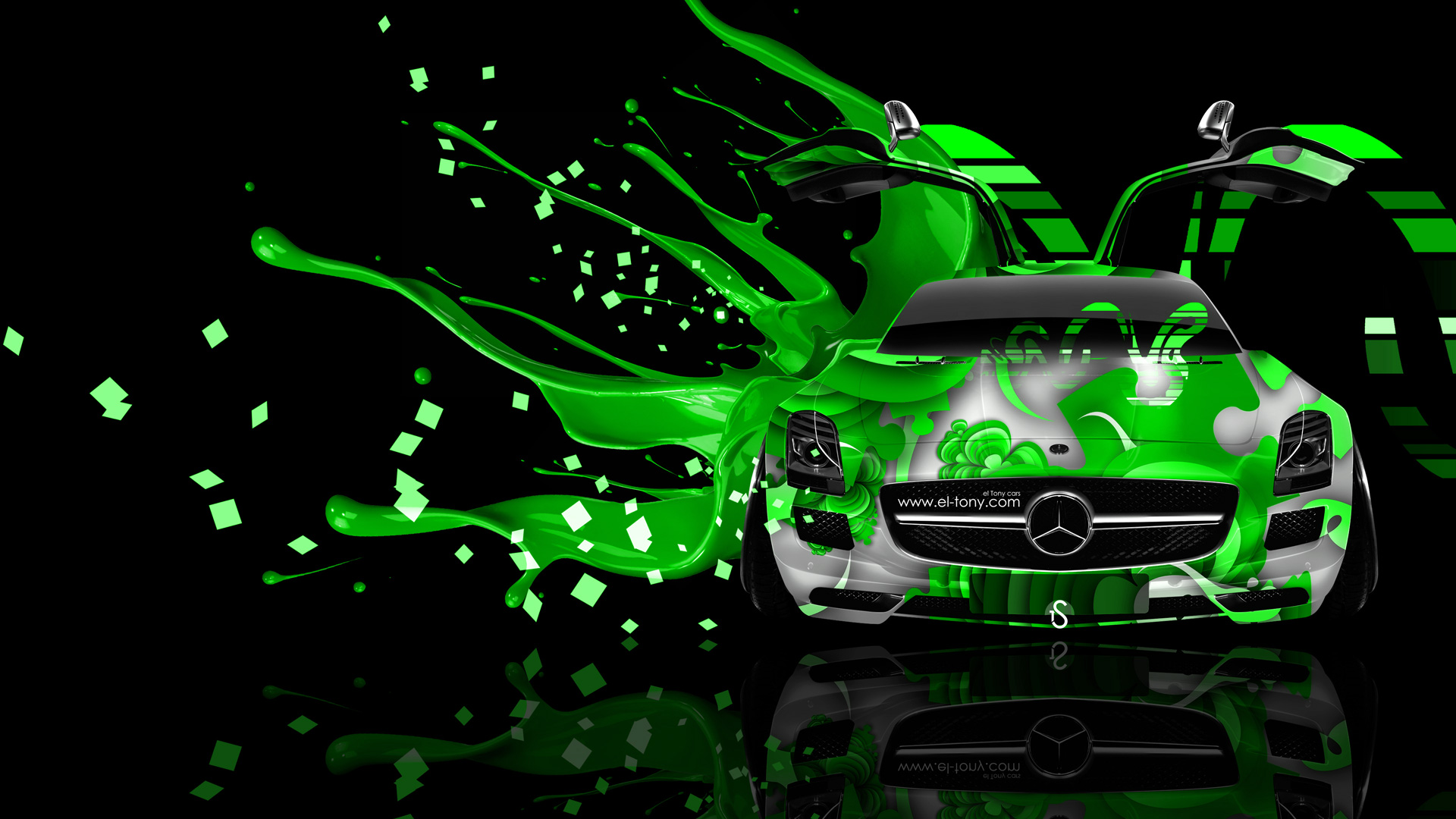 Monster Energy Iphone Wallpaper Mercedes Sls Amg Open Doors Front Live Colors Car 2014