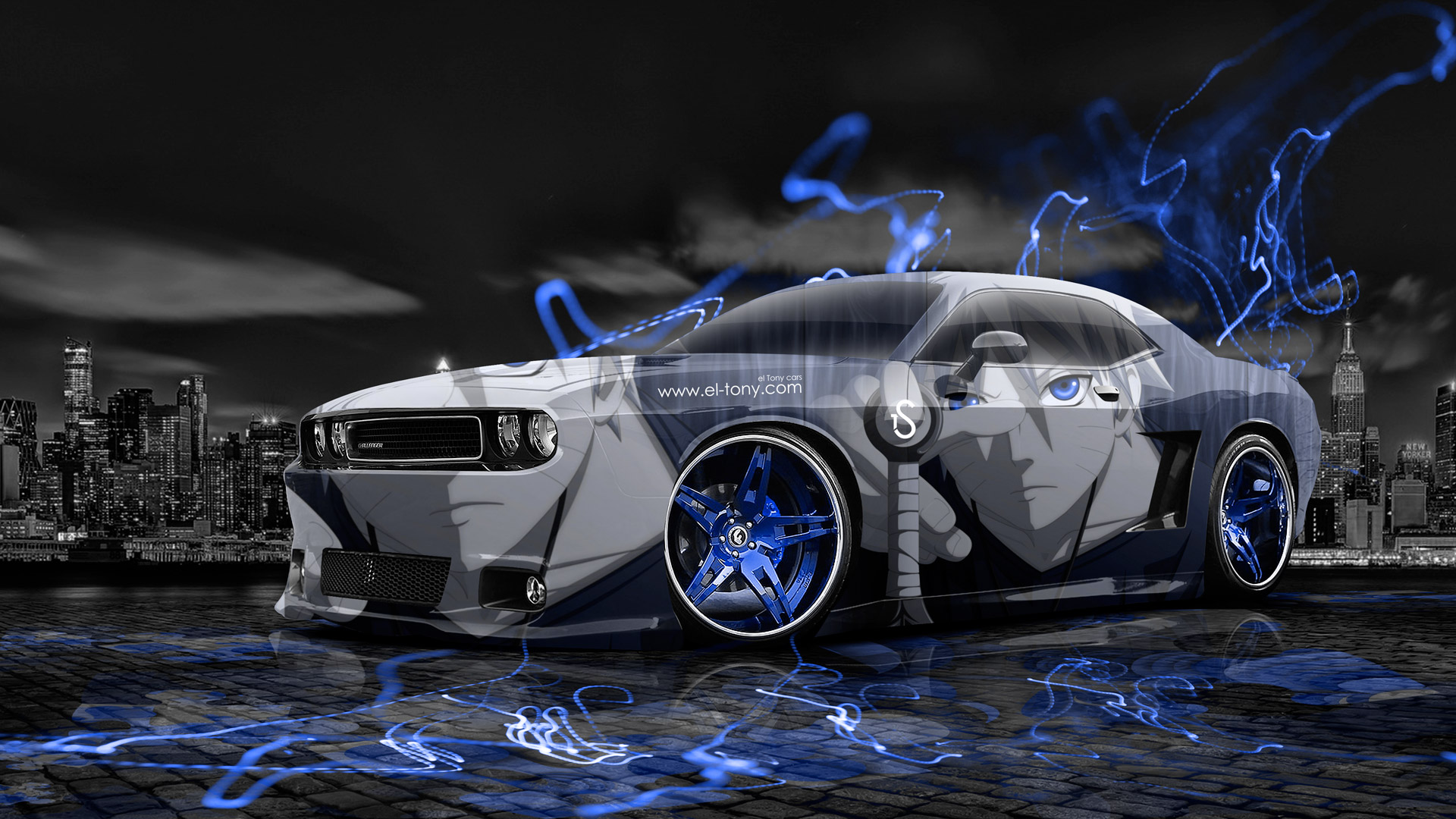 3d Golf Wallpaper For The Home Dodge Challenger Muscle Anime Aerography City Car 2014