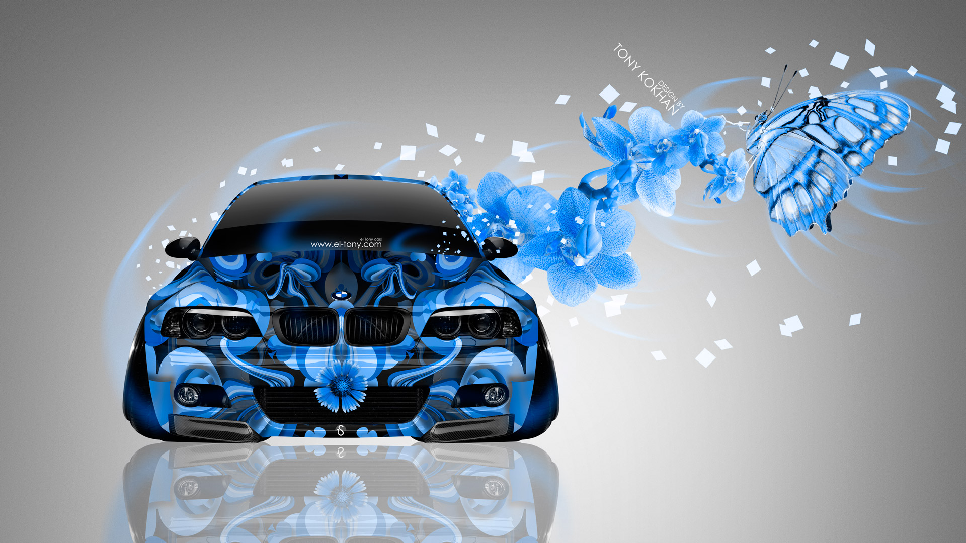 Fantasy Car Wallpapers Bmw M3 E46 Front Fantasy Flowers Butterfly Car 2014 El Tony