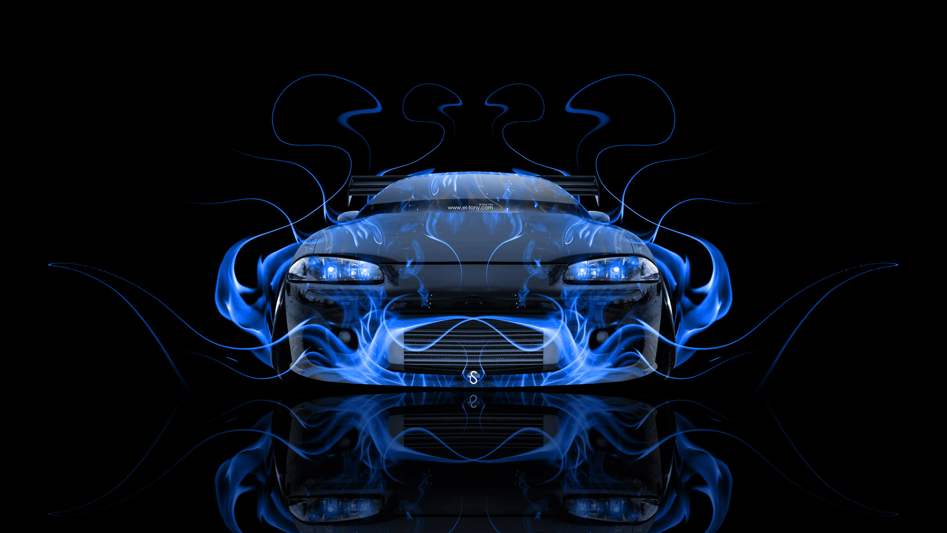 Supra Iphone Wallpaper Mitsubishi Eclipse Jdm Tuning Front Fire Car 2014 El Tony