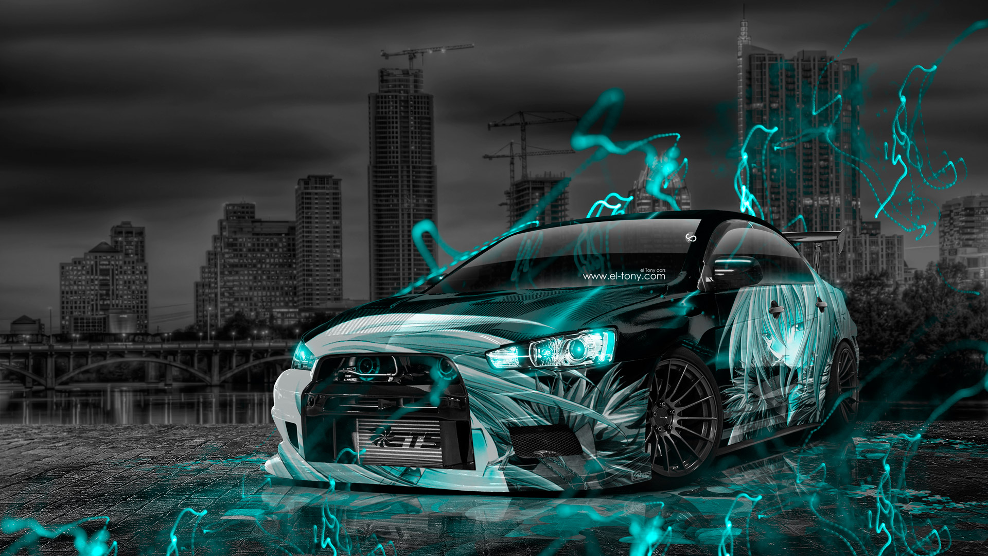 Iphone 6 Plus Muscle Car Wallpaper Mitsubishi Lancer Evolution X Tuning Jdm Anime City Car