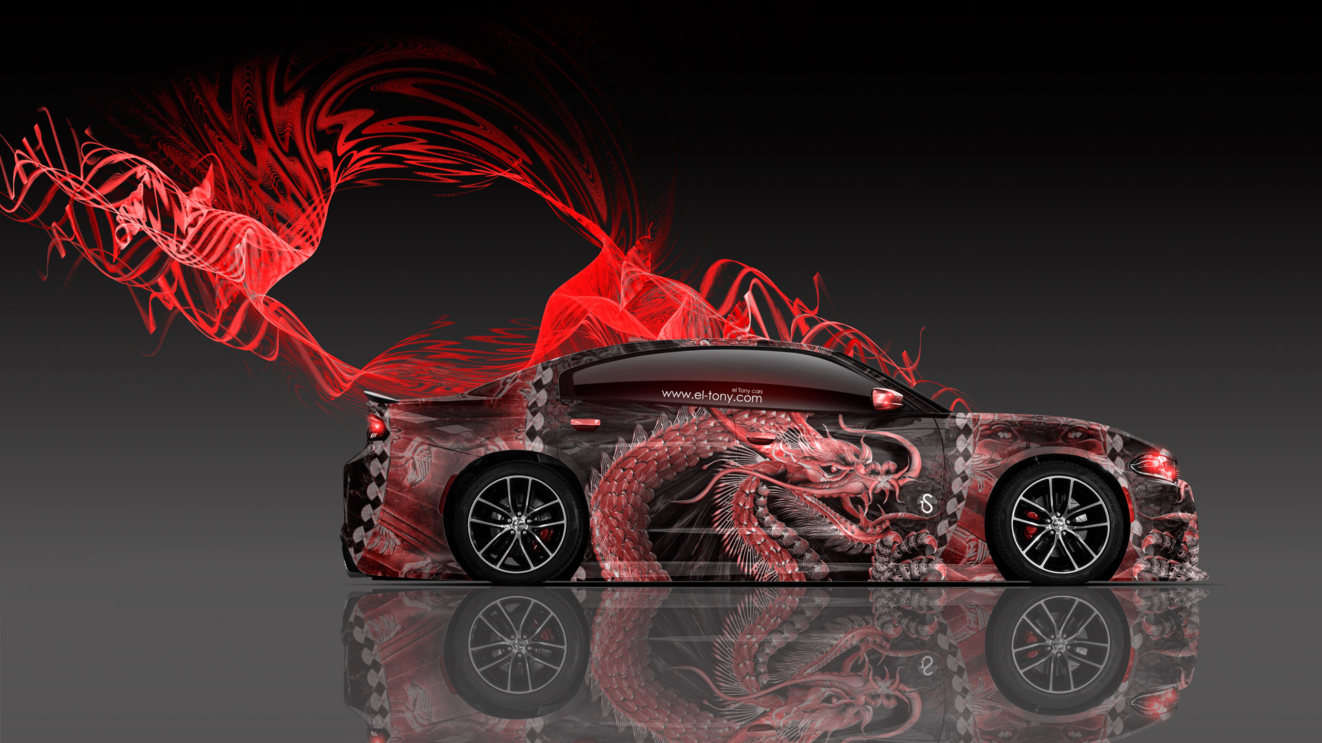 Free Muscle Car Wallpapers For Desktop Dodge Charger Rt Muscle Dragon Aerography Car 2015 El Tony