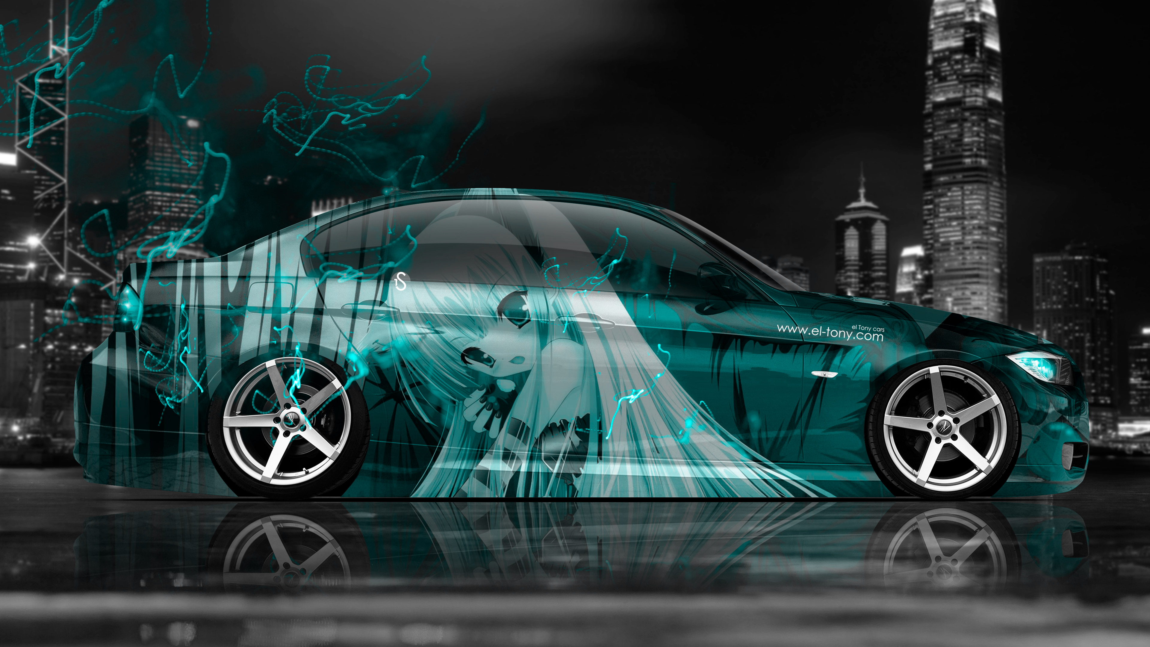 Boy Girl Sketch Wallpaper 4k Bmw E90 Side Anime Girl Aerography City Energy Car 2015