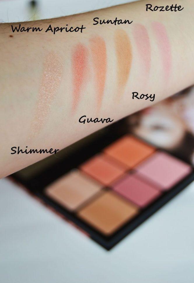 Smashbox Crush On Blush Palette Swatches