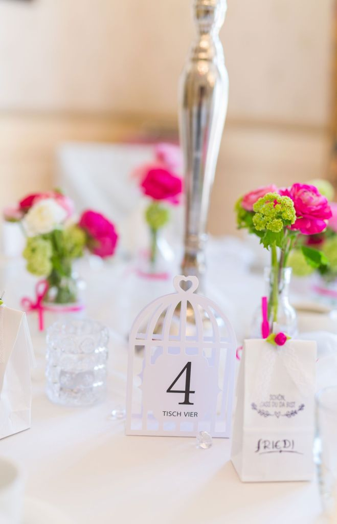 Wedding Decorations - Table Numbers