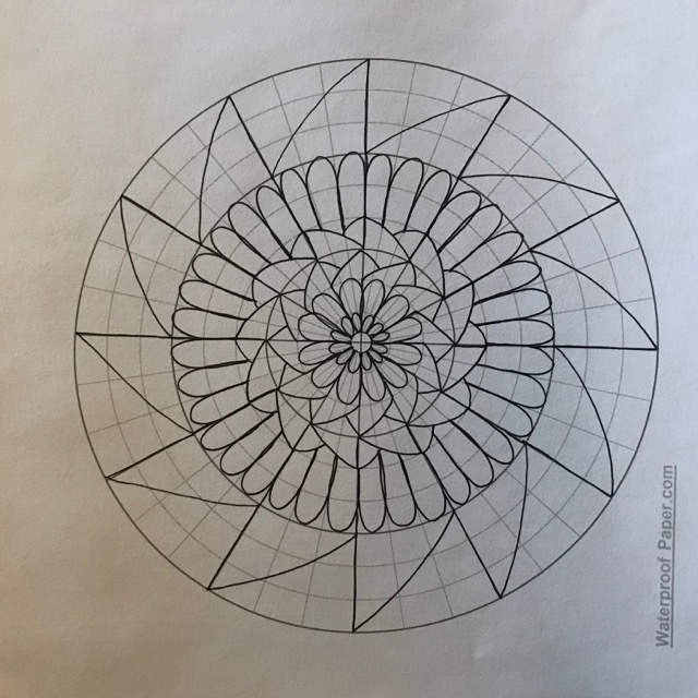 Drawing Mandalas, Easy, Fun and Relaxing + Source for Free Printable