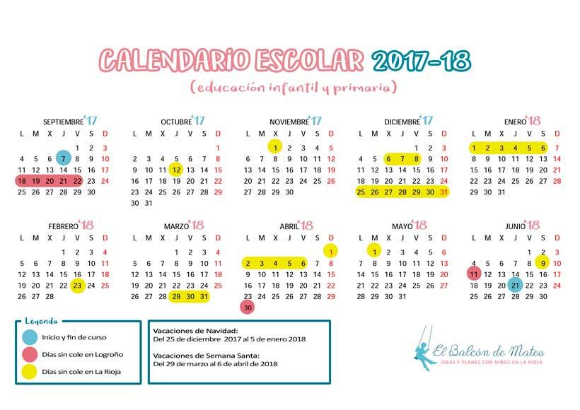 Calendario escolar 2017-2018 en La Rioja