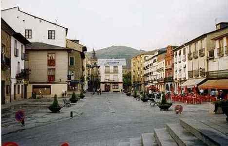 Imagen del casco histórico de Villafranca del Bierzo