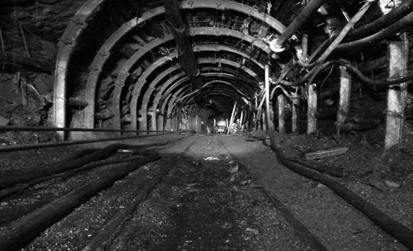 Interior de una mina berciana