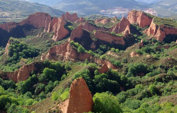 Las Médulas, Patrimonio de la Humanidad, es uno de los primeros recursos naturales del Bierzo