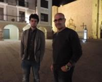 El coordinador de Ciudanos Ponferrada, Tulio García (Izq.) y el responsable de organización, Pedro Raposo (Dcha.)
