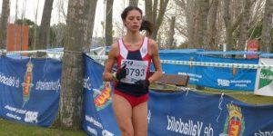 Nuria Lugueros, en una competición en Valladolid (Atletismo Valladolid)