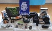 Imagen de los objetos incautados a los presuntos autores