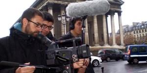 Folgado, durante uno de sus rodajes (Ical)