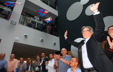Muñoz, durante la presentación de los candidatos de la agrupación (C. Sánchez / Ical)