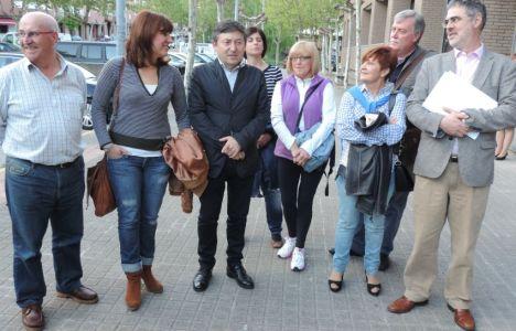 Samuel Folgueral con algunos miembros de su lista poco antes de su presentación