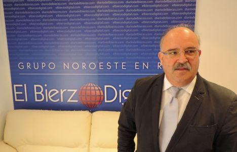 Emilio Cubelos de los Cobos, al término de la entrevista en EBD