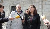 Isabel Baílez y Julio Díaz Marcos en la presentación de las actividades (M. Alija)